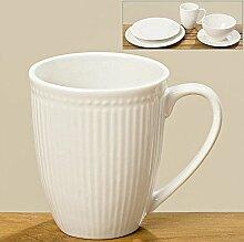 Tasse mit Henkel Porzellan weiß 350ml Kaffeetasse