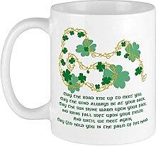 Tasse mit irischem Segen, einzigartig, groß,