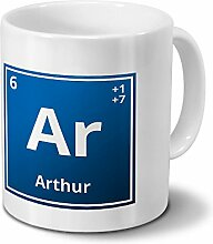 Tasse mit Namen Arthur als Element-Symbol des