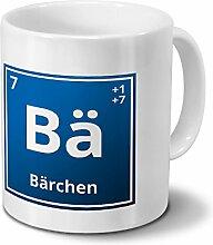 Tasse mit Namen Bärchen als Element-Symbol des