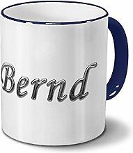 Tasse mit Namen Bernd - Motiv Chrom-Schriftzug -