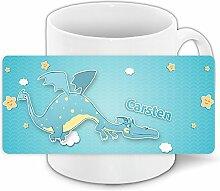 Tasse mit Namen Carsten und schönem Drachen-Motiv