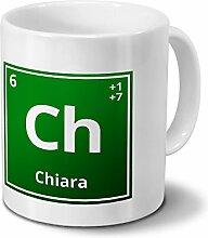 Tasse mit Namen Chiara als Element-Symbol des