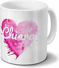 Tasse mit Namen Chiara - Motiv Painted Heart -
