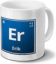 Tasse mit Namen Erik als Element-Symbol des