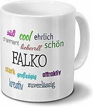 Tasse mit Namen Falko - Motiv Positive