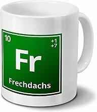 Tasse mit Namen Frechdachs als Element-Symbol des