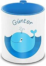 Tasse mit Namen Günter und Motiv mit Wal für