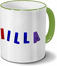 Tasse mit Namen Hilla - Motiv Magnetbuchstaben -