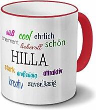 Tasse mit Namen Hilla - Positive Eigenschaften von