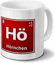 Tasse mit Namen Hörnchen als Element-Symbol des