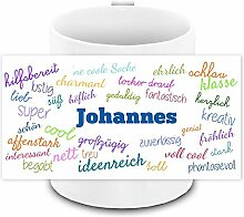 Tasse mit Namen Johannes und positiven