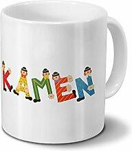Tasse mit Namen Kamen - Motiv Holzbuchstaben -