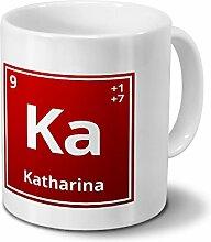 Tasse mit Namen Katharina als Element-Symbol des