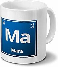Tasse mit Namen Mara als Element-Symbol des