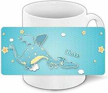Tasse mit Namen Mats und schönem Drachen-Motiv