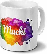 Tasse mit Namen Mucki - Motiv Color Paint -