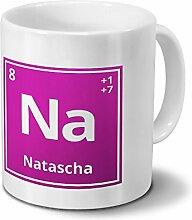 Tasse mit Namen Natascha als Element-Symbol des
