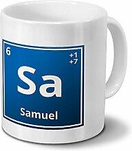Tasse mit Namen Samuel als Element-Symbol des