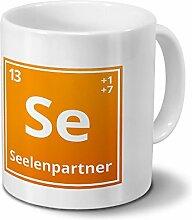 Tasse mit Namen Seelenpartner als Element-Symbol