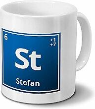 Tasse mit Namen Stefan als Element-Symbol des