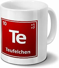 Tasse mit Namen Teufelchen als Element-Symbol des