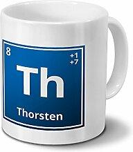 Tasse mit Namen Thorsten als Element-Symbol des
