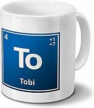 Tasse mit Namen Tobi als Element-Symbol des