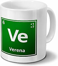 Tasse mit Namen Verena als Element-Symbol des