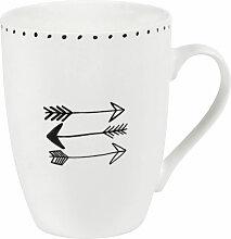 Tasse mit Pfeilmotiv aus Porzellan NAGAWIKA