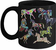 Tasse mit Pferd, Geschenk für Schwester, Geschenk