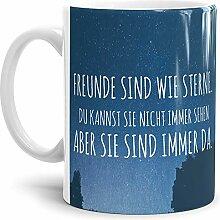 Tasse mit Spruch Freunde Kaffeebecher mit Motiv,