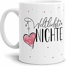 Tasse mit Spruch für die Weltbeste Nichte -