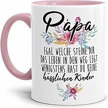 Tasse mit Spruch Papa - Wenigstens hast du Keine