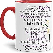 Tasse mit Spruch von der Mama für die Tochter -
