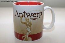 Tasse mit Starbucks Antwerp (Belgien) Motiv, 455 ml