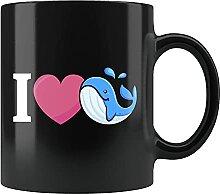 Tasse mit Walmotiv, Wal-Geschenk, Wal-Liebhaber,