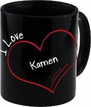 Tasse Modern I Love Kamen schwarz - Becher Pott