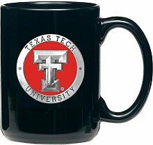 Tasse, Motiv Texas Tech University, Zinn, Schwarz