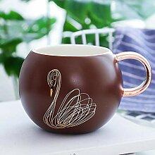 Tasse Mug Geschenk Kreativ Creative Gold Swan