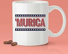 Tasse Murica Lustige Amerika Kaffeetasse