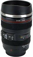 Tasse Objektiv Becher / Camera Lens Coffee Mug Cup für Kaffee, Tee, Milch, Wasser - 400ML---Schwarz