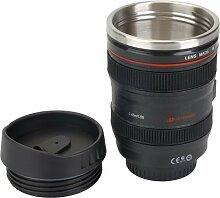Tasse Objektiv Becher / Camera Lens Coffee Mug Cup für Kaffee 400ML Schwarz