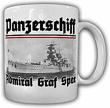 Tasse Panzerschiff Admiral Graf Spee Schiff Río de la Plata Montevideo Uruguay Marine Deutschland-Klasse Foto Becher #20576