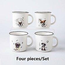 Tasse Porzellan Kaffee Kaffeetasse 4 Stück Süße