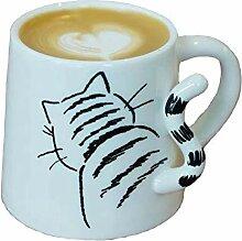 Tasse Porzellan Kaffeetasse Niedliche Katze Hund