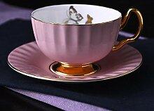 Tasse Schwarzer Tee,Bone China Kaffeetasse Set
