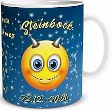 Tasse Smiley Sternzeichen Steinbock, lustiges