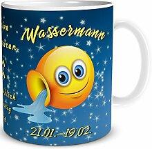Tasse Smiley Sternzeichen Wassermann lustiges