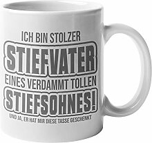 Tasse Stiefvater Stiefsohn, Bonus Papa Kaffeetasse